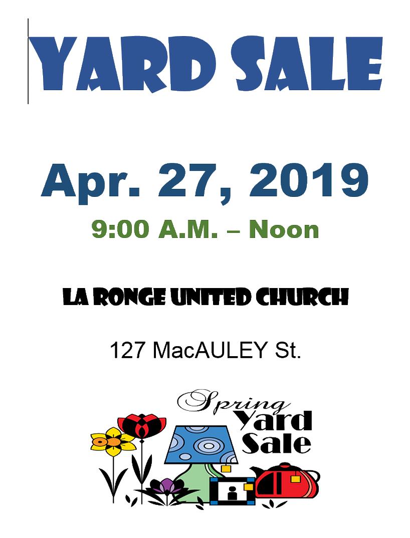 United Church Garage Sale | larongeNOW | La Ronge, Saskatchewan